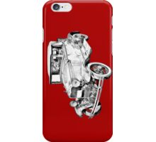 Model A Ford Roadster Antique Car Illustration iPhone Case/Skin