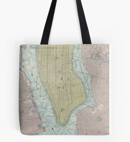 Vintage Map of New York City (1901) Tote Bag