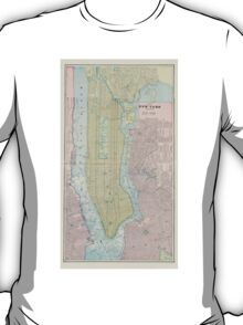 Vintage Map of New York City (1901) T-Shirt