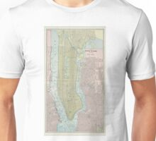 Vintage Map of New York City (1901) Unisex T-Shirt