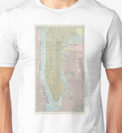 Vintage Map of New York City (1901) Unisex T-Shirt