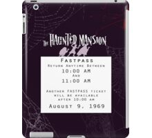 Haunted Mansion Fastpass iPad Case/Skin