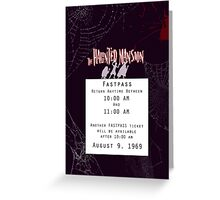 Haunted Mansion Fastpass Greeting Card