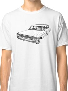 1964 Ford Galaxy Country Station Wagon Illustration Classic T-Shirt