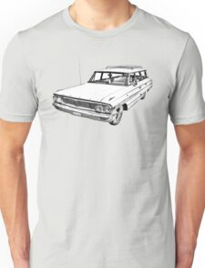 1964 Ford Galaxy Country Station Wagon Illustration Unisex T-Shirt