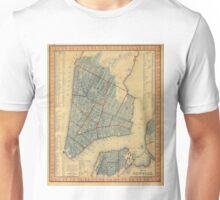 Vintage Map of New York City (1846) Unisex T-Shirt