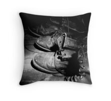 Army Boots Throw Pillow