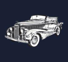 1938 Cadillac Lasalle Illustration Kids Clothes