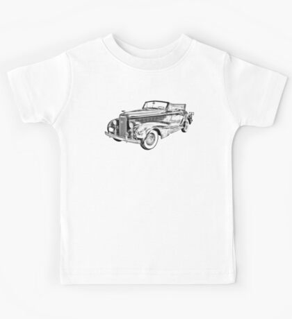 1938 Cadillac Lasalle Illustration Kids Tee