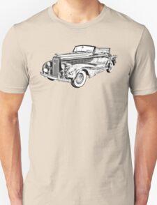 1938 Cadillac Lasalle Illustration Unisex T-Shirt