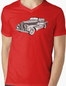 1938 Cadillac Lasalle Illustration Mens V-Neck T-Shirt