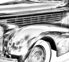 1938 Cadillac Lasalle Illustration Sticker