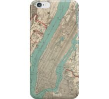 Vintage Map of New York City (1890) iPhone Case/Skin