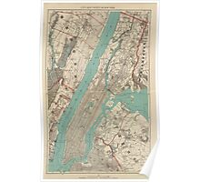 Vintage Map of New York City (1890) Poster
