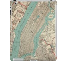 Vintage Map of New York City (1890) iPad Case/Skin