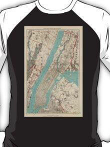 Vintage Map of New York City (1890) T-Shirt
