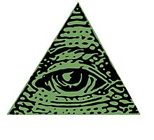 Illuminati Eyes Photographic Print