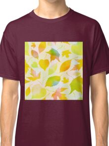 Falling leaves pattern Classic T-Shirt