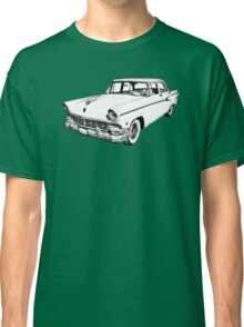 1956 Ford Custom Line Antique Car Illustration Classic T-Shirt