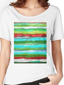 Watercolor Multicolor Abstract Background Women's Relaxed Fit T-Shirt