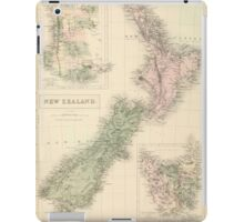 Vintage Map of New Zealand (1854) iPad Case/Skin