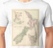 Vintage Map of New Zealand (1854) Unisex T-Shirt