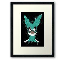 Boku No Hero Academia - Izuku Mask Splatter Framed Print