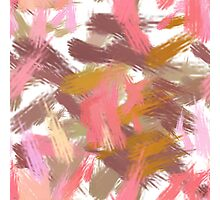 Pink brush stripes, abstract Photographic Print