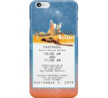 Thunder Mountain- Fastpass (#1) iPhone Case/Skin
