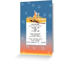 Thunder Mountain- Fastpass (#2) Greeting Card