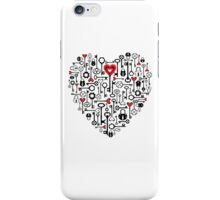 key to heart iPhone Case/Skin