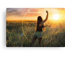 Catch The Sun Before Its Gone Canvas Print