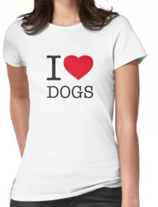 I ♥ DOGS Womens Fitted T-Shirt