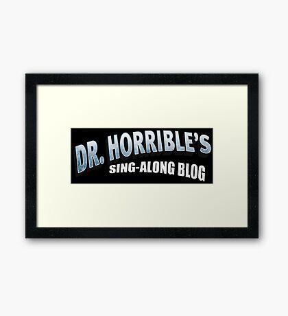 Dr. Horrible's Sing-Along Blog Framed Print