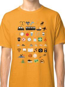 Travel icons Classic T-Shirt