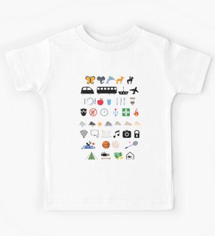 Travel icons Kids Tee