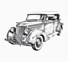 1936 Ford Phaeton Convertible Illustration  Kids Clothes