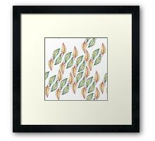 Fluidity in the Falling Leaves Framed Print
