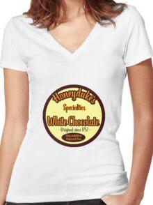Honeydukes Chocolate - White!Version Women's Fitted V-Neck T-Shirt