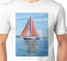 Sail boat on Sydney harbour Unisex T-Shirt