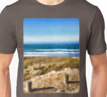 View of the Beach from the Carpark Unisex T-Shirt
