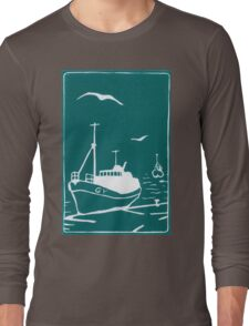 Trawlers - Comrades in Turquoise Long Sleeve T-Shirt