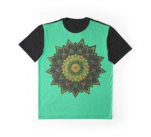 green abstract mandala flowers Graphic T-Shirt