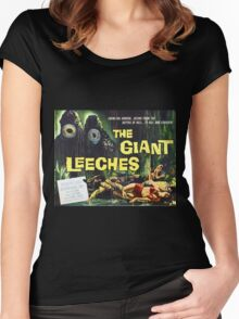 Attack of the Giant Leeches vintage movie poster Women's Fitted Scoop T-Shirt