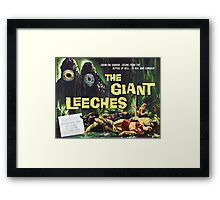 Attack of the Giant Leeches vintage movie poster Framed Print