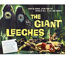 Attack of the Giant Leeches vintage movie poster Photographic Print