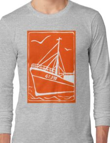 Ross Tiger in Orange Long Sleeve T-Shirt