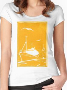 Trawlers - Comrades in Yellow Women's Fitted Scoop T-Shirt