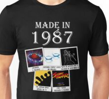 Made in 1987, main historical events Unisex T-Shirt