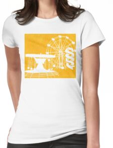 Seaside Fair in Yellow Womens Fitted T-Shirt